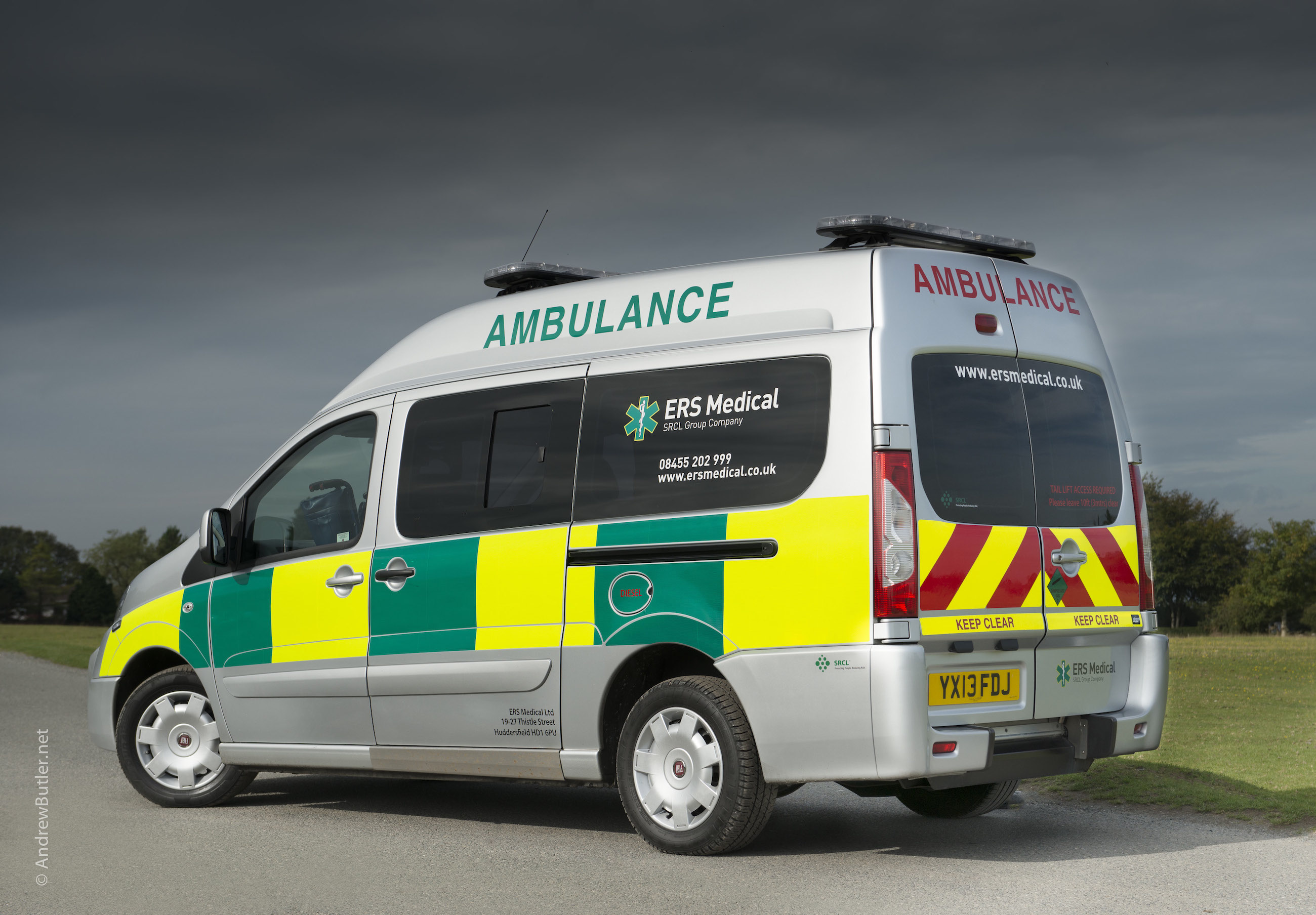 Emergency vehicle Photography in Plymouth by Andrew Butler Exeter Photographer Devon