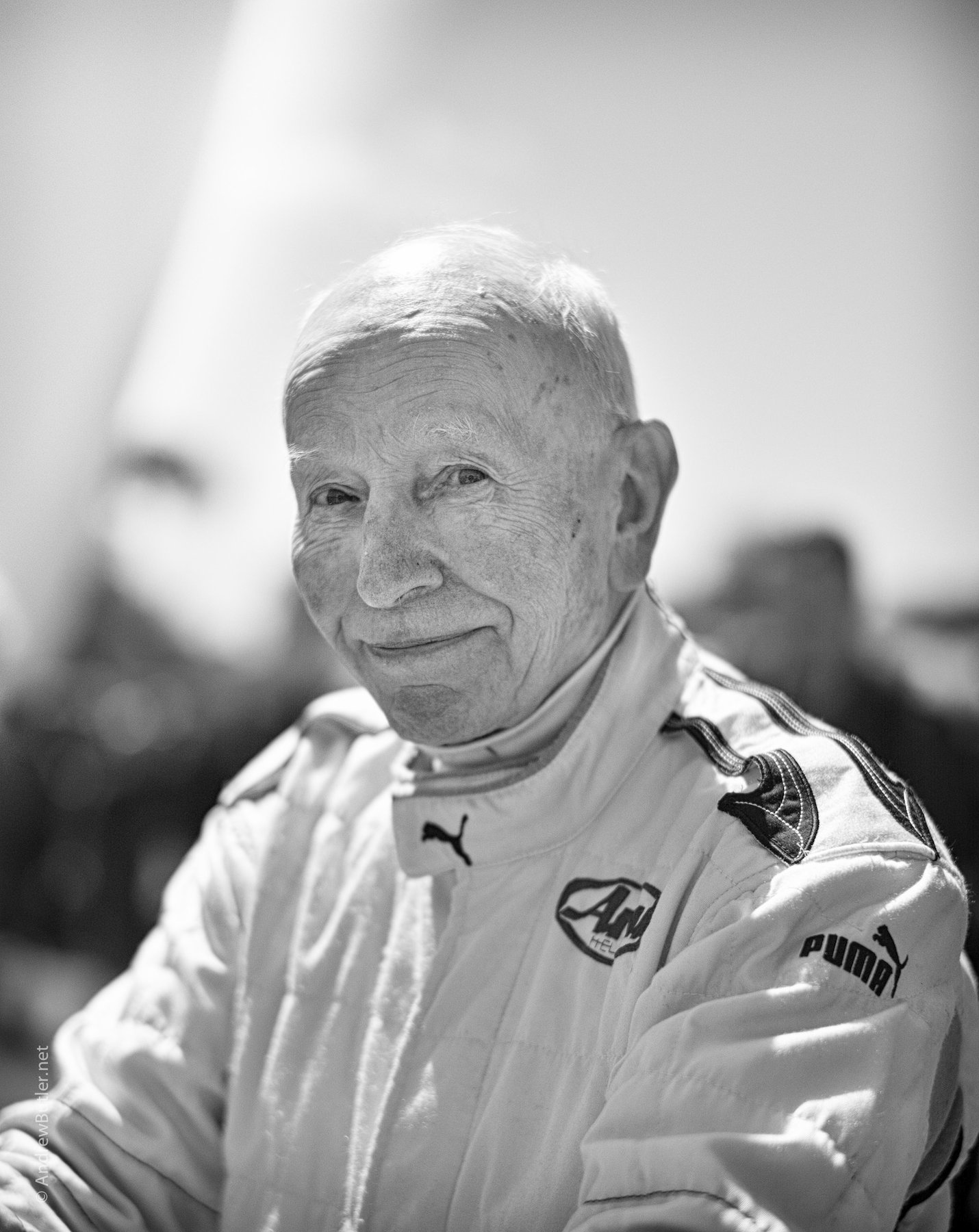 Black and White portrait photograph of John Surtees by Andrew Butler (Exeter)
