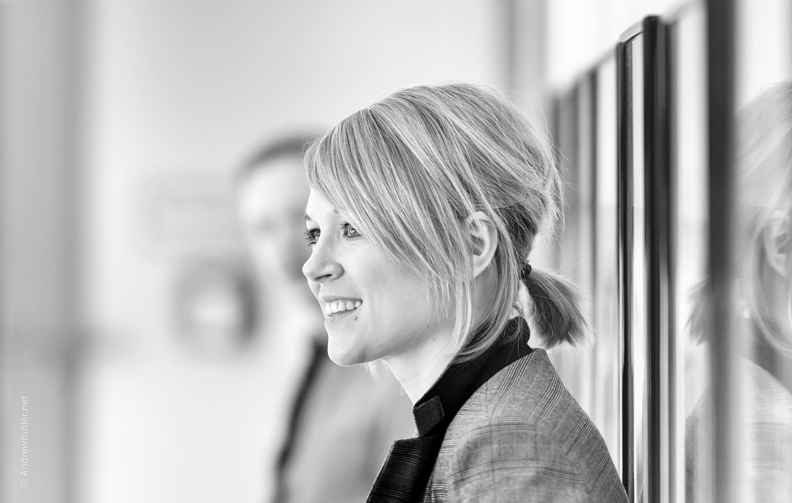 Female Black and White Headshot Head and Body Portrait Photography Exeter Devon