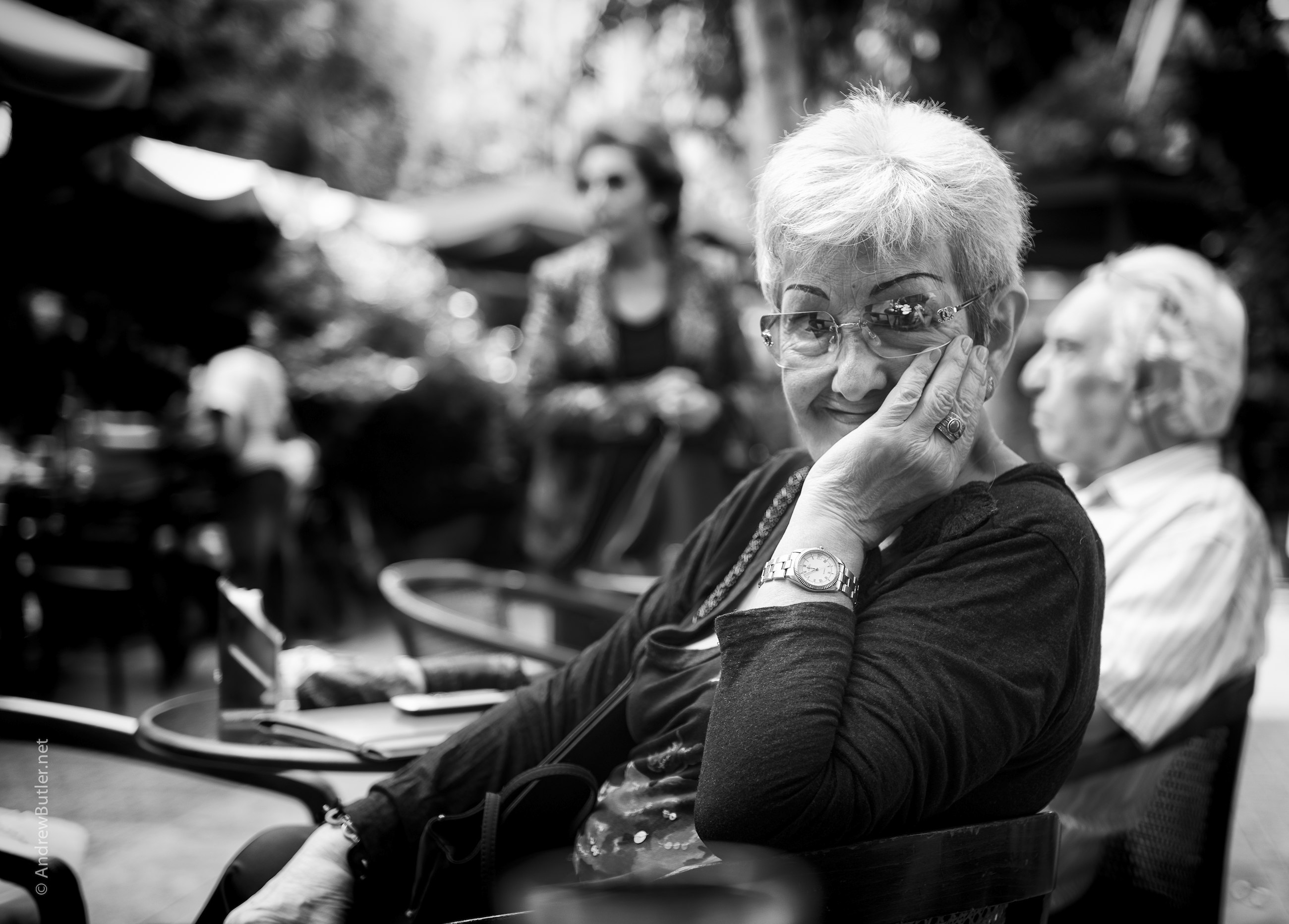 Black and White portrait photograph of Sicilian Woman by Andrew Butler (Exeter)