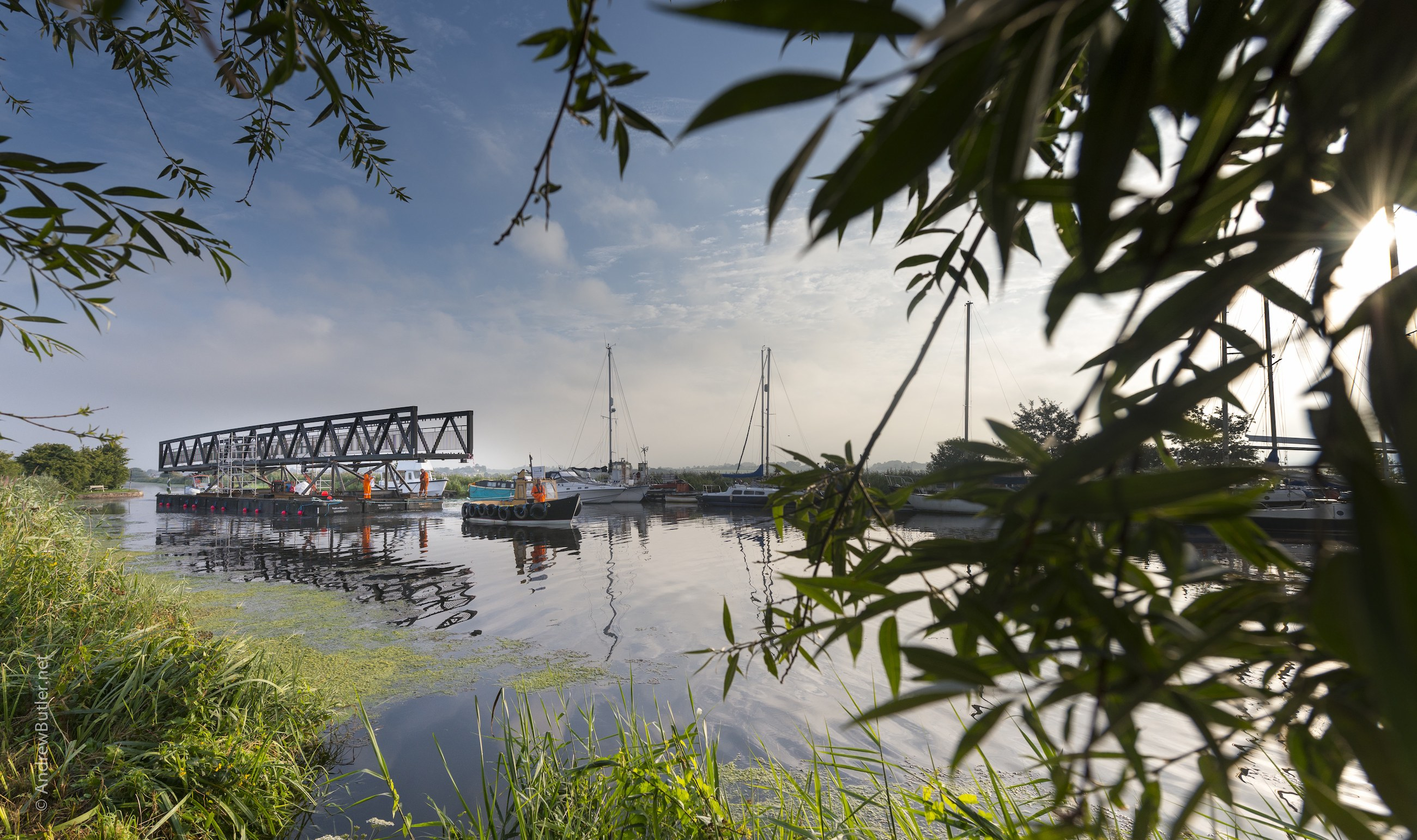 Marine - civil Engineering Photo of Clyst Cycle Bridge Near Topsham, by Exeter Devon Commercial Industrial Construction Photographer - Andrew Butler