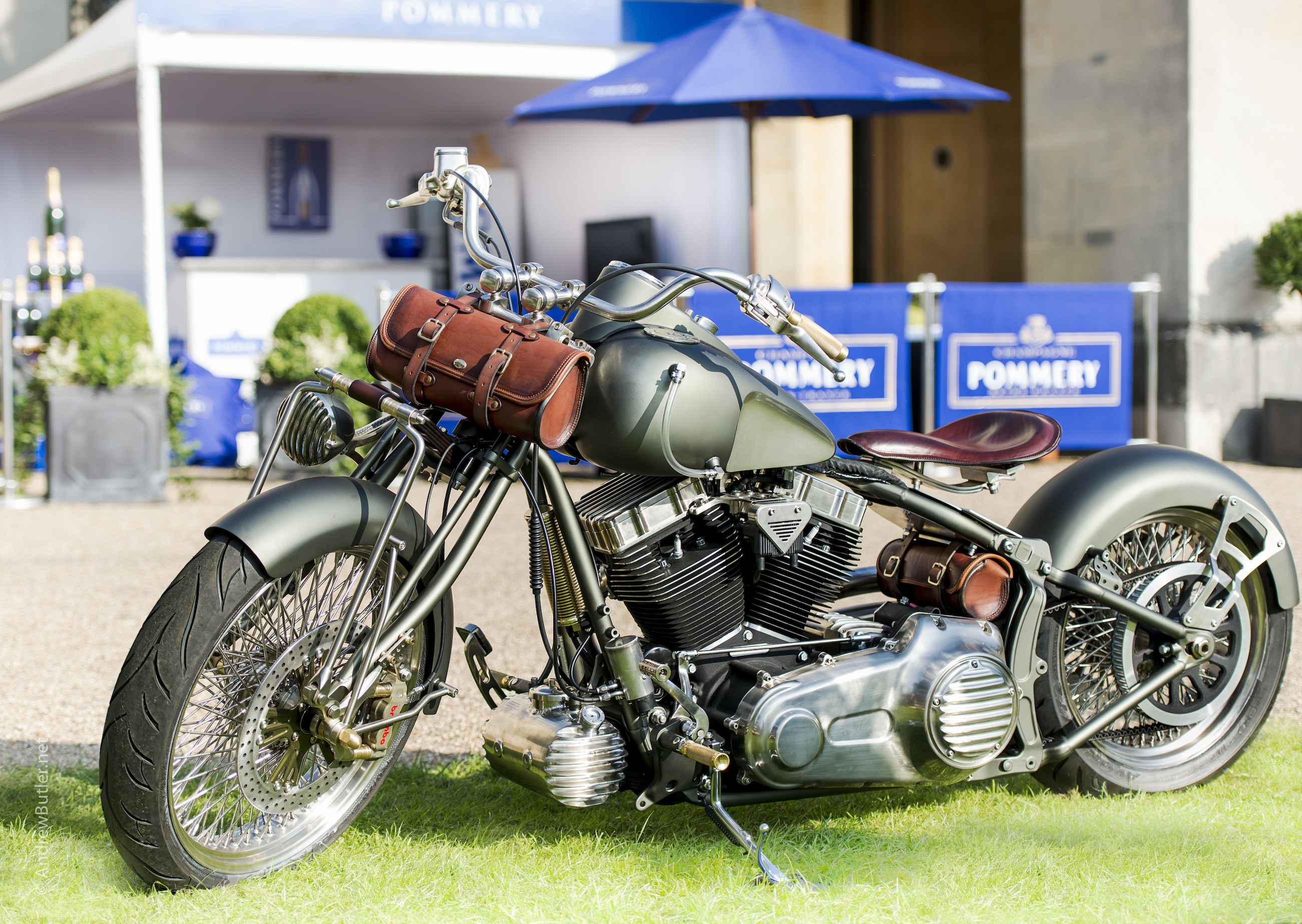 Salon Prive 2014 Warrs Harley by motorbike photographer Photograph by Motoring Photographer Andrew Butler of Exeter Devon