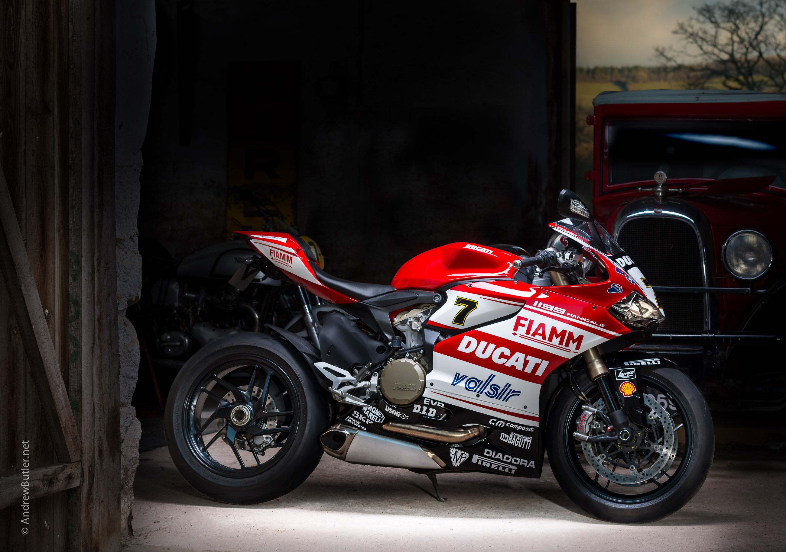 Ducati 1199 Panigale photographed by Andrew Butler by motorbike photographer Andrew Butler