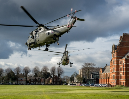 Commando Helicopter Force Visit Exeter School