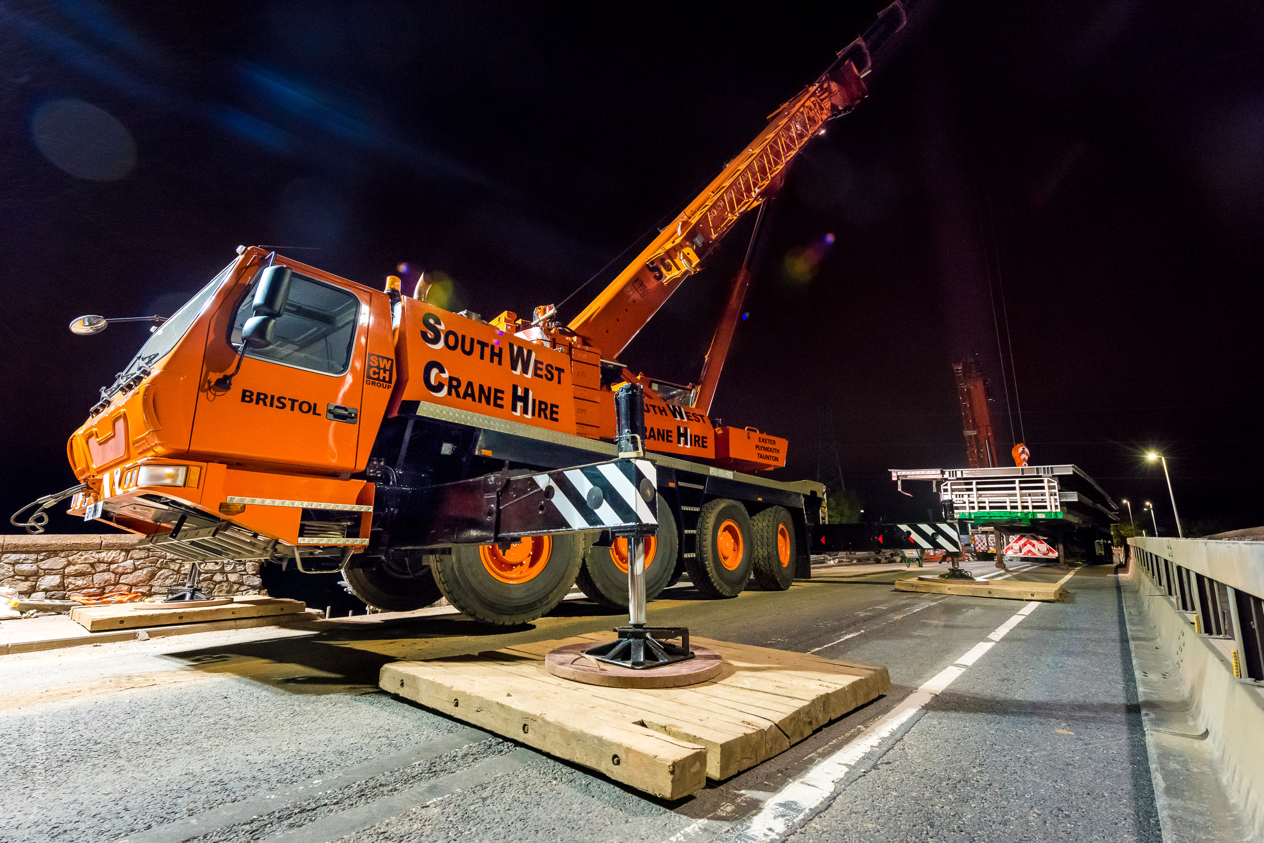 Night-Time Civil Engineering Photography: Exeter