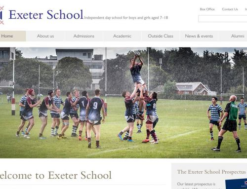 Exeter School Website Photography