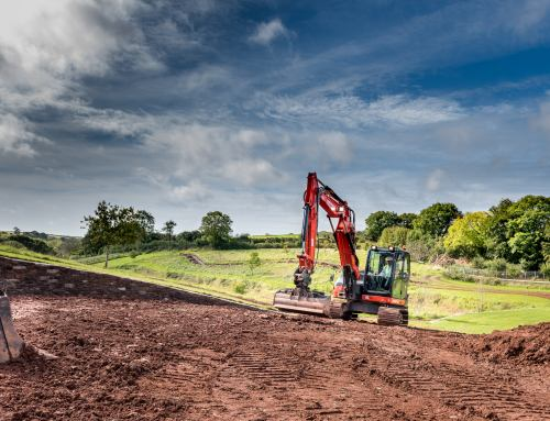 Construction Machinery Photography in Devon for Kubota