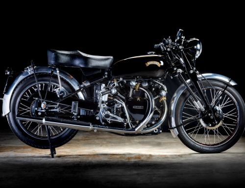 Photographing The Bridge Motorcycles (Exeter) 1953 Vincent Black Shadow