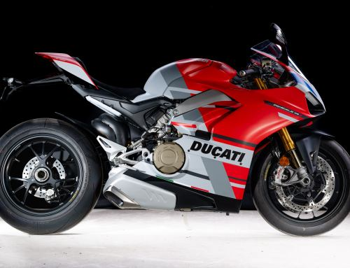 Photographing a Brace of Ducatis in Plymouth